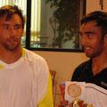 Alexander Satschko (l.) und Turniersieger Marc Sieber