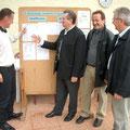 v.l.: Turnierleiter Karl Pöppl, Schirmherr Landrat Franz Meyer, Karl Dinzinger (BTV) und TCA-Päsident Hans Straubinger