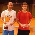 Turniersieger Christian Haupt (l.) und Finalist Dennis Bloemke