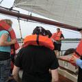 Sicherheitseinweisung an Bord