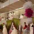 Stand salon du mariage orléans vert blanc fuschia