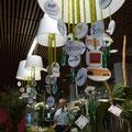 Borne accueil centre de conférences orléans forum emploi décoration verte et blanche