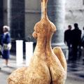 """""""Sitzende"""", Gips, H 75 cm, 1997"""
