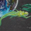 """""""Song of Ocean"""" Acryl auf Leinwand - © Copyright by Eddie 2003"""