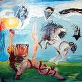 """""""Geburt einer Göttin"""" Öl auf Leinwand - © Copyright by Eddie 2003"""