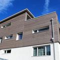 Romboid Fassadenschalung - Behandlung: Vorvergraut Old Chalet