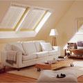Doppelfenster - Holzfenster mit Sonnnen- und Sichtschutz