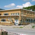 Neubau Albisser AG, Geuensee - Bürotrackt und Schreinerei im Rohbau