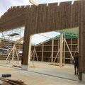 Maschinenhalle mit Brettschichtholzbinder