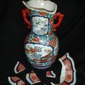 Alte chinesische Vase vor..