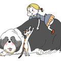 dog&cat&girl