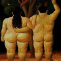 Adán y Eva .- Botero -.