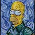 Autorretrato Van Gogh .- Homer Simpson -.