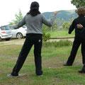 Alumnos practicando Forma 19 - Retiro Taijiquan Cxwta-Chile San Miguel