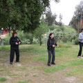Alumnos en Practica de Zhanzhuang - Retiro Taijiquan Cxwta-Chile San Miguel