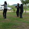 Alumnos en Practica Forma 19 - Retiro Taijiquan Cxwta-Chile San Miguel