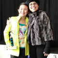 Delaney Chough receives the 2013 Skate KC Most Artistic Performance award from Katie Holmes