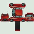 Vektor-IIllustration - Bastelbogen Audi A1 - Kunde: Audi