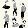 """Character-Design für Graphic Novel """"Vatermilch"""" - Hauptfigur Viktor Himmelstoss mit Hut"""