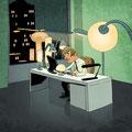 Titel-Illustration - Magazin: Mensch & Büro - Thema: Licht am Arbeitsplatz