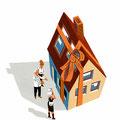 Cover-Illustration für das Magazin Finanztest (Stiftung Warentest) - Thema: Immobilien vererben / Schenkung