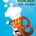 Illustration Plakatvorschlag für das Münchner Oktoberfest 2014 - Kunde: Stadt München