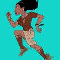 IIllustrationen für Fussballtypen - Die Frau - Magazin: Goal