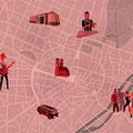 Vektor-IIllustration - Stadtplan München - Kunde: Campari
