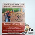 Plakat Bogenschützen Verein Worms