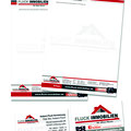 Briefpapier und Visitenkarten Fluck Immobilien