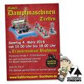 Plakat Dampfmaschinentreffen im Traktormuseum Bischheim