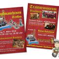 Flyer Dampfmaschinentreffen im Traktormuseum Bischheim