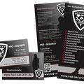 Flyer und Visitenkarten HSD Security Nittenau