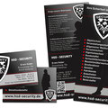 Flyer und Visitenkarten HSD Security Nittenau