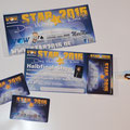 VIP Eintrittskarte Plastikkarte Star 2015