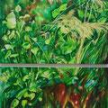 Dschungelrebe, 2012, Öl auf Leinwand