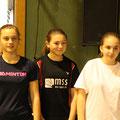DE U15, 3. Platz Delia Kardas (re)