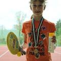 Glückliche Bronze-Gewinnerin
