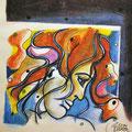 Visage de Colette esquisse 28x20,5