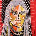 Portraît Tribale 60X55  (Collection privée)