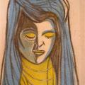 portrait de jeune fille perdue 30x30 (Collection privée)