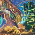 Duel entre Voldemort et Dumbledore au Ministère de la Magie (Tome 5)