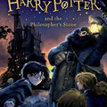 Tome 1 - Hagrid, Harry, Ron et Hermione devant le château de Poudlard avant l'arrivée en barque