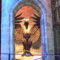 La gargouille pour accéder au bureau de Dumbledore