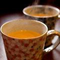 チャイ。たっぷりのミルクとコクのある茶葉を使ったスパイスの効いた本格的なチャイです ¥550