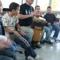 Die Trommelklänge brachten die Kinder richtig in Schwung.