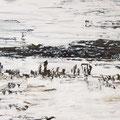 im Nebel, Öl auf Leinwand, 70 x 100 cm