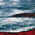 o.T., Öl auf Leinwand, 70 x 100 cm