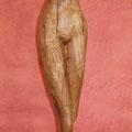 weiblicher Torso, Kirsche, 120 cm