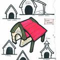 Dog house marker render